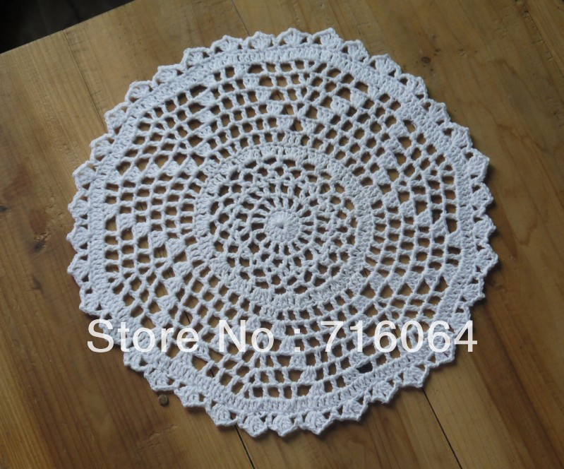 handmade Crocheted Doilies round patterns Placemats napkins Dial plate pad tablecloth applique 20pcs/lot Physical picture 100%(China (Mainland))