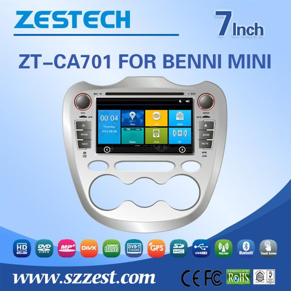 Free shipping 7 inch 2 din car dvd player for ChangAn Benni Mini auto motors dvd with car gps navigator GPS DVD AM/FM V-10disc(China (Mainland))