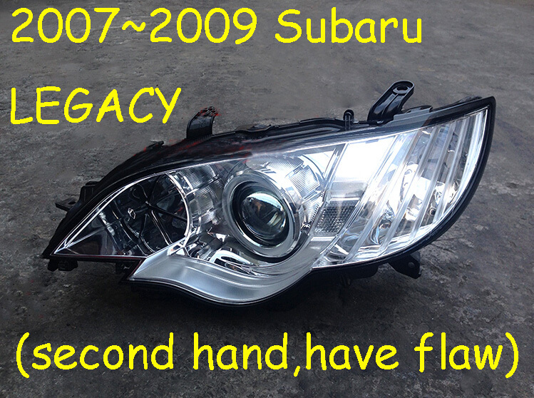 2007~2009 Subaru Legacy headlight(original secondhand,not 100%new!)+Free ship,HID BULB;you must confirm have stock before buy!(China (Mainland))