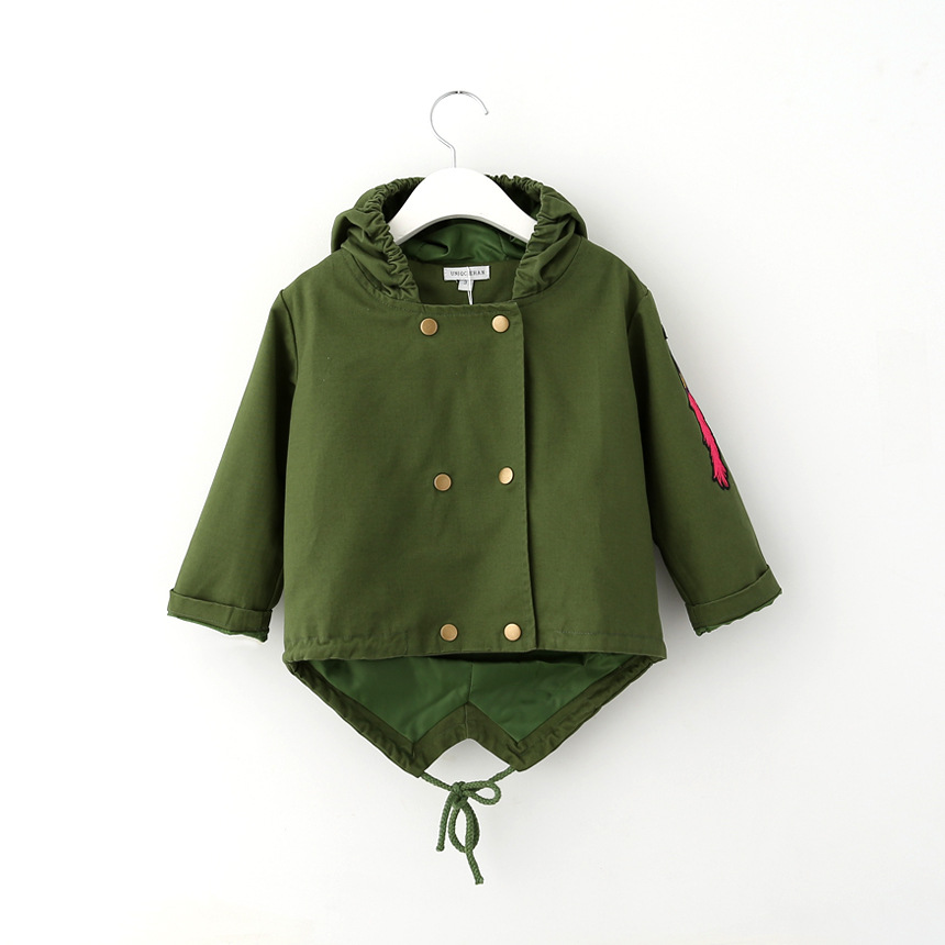 Brand 2015 new arrival baby embroidery jacket coats autumn and winter little boys fashion hooded trench coats 2 colors for 3-10T<br><br>Aliexpress