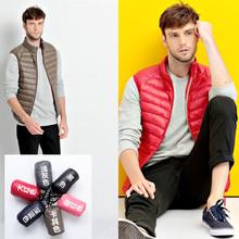 2015 Men's Vest Waistcoat Fall Winter Fashion Chaleco Hombre Black Red Khaki Sleeveless Bodywarmer Men Yelek down Jacket Vests(China (Mainland))