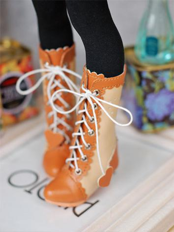 FREE SHIPPING BJD Shoes 1/4 Fashion Short Boots Cute GirL Yellow/Chocolate Shoes Shoes-MSD-054 for MSD Size Ball-jointed Doll(China (Mainland))
