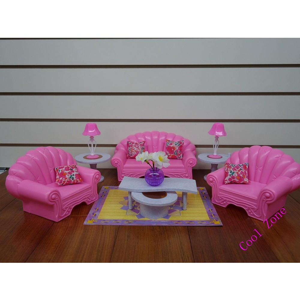 Miniature Furnishings My Fancy Life Dwelling Room for Barbie Doll Home Toys for Lady Free Delivery