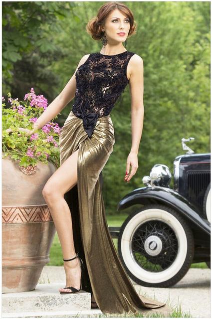 Gold dress casual elegant