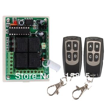 RF Wireless Garage Door Remote Control 12V 4CH 2 Transmitter & 1Receiver