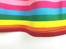 Kids Girl Dress Children Rainbow Striped Cotton Dresses Cross Halter Dress Grils Baby Clothes