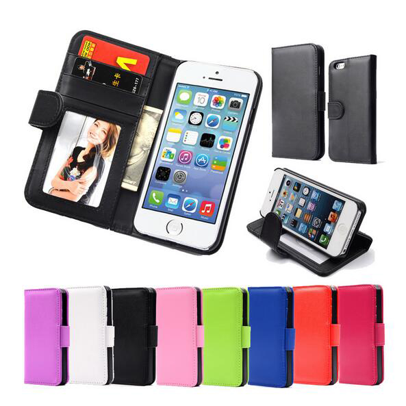 Hot Magnetic Flip PU Leather Case Photo Frame Card Holder Smart Stand Skin Bags Wallet Cover iPhone 5 5S SE - Get it Happy store