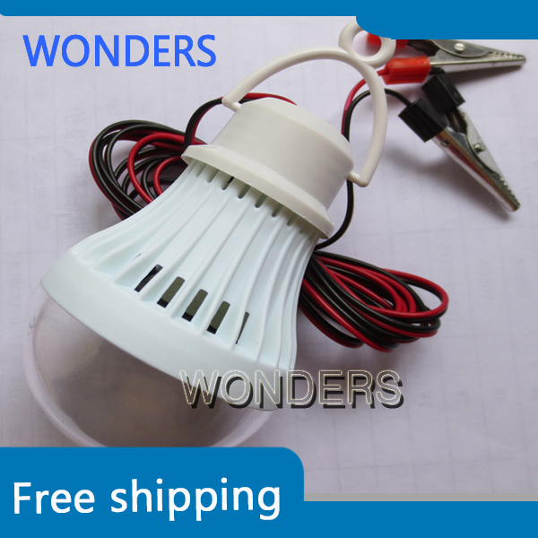 Portable Energy-Saving 3W 5W 7W 9W 12W dc-dc 12V LED Light Lamp Bulb For Camping Hiking Tent Garden(China (Mainland))