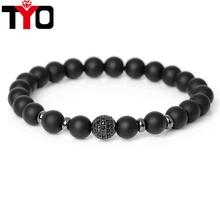 Buy TYO Brand High DIY Health Bianshi Stone Beads Bracelet Trendy CZ Braiding Brand Macrame Charm Bracelet men Jewelry for $2.67 in AliExpress store
