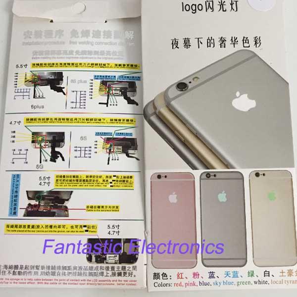 Light Logo For Iphone 6s plus 5.5 Inch Luminescent Glowing LED Light Up Transparent Logo Mod Panel Kit Back Cover logo(China (Mainland))