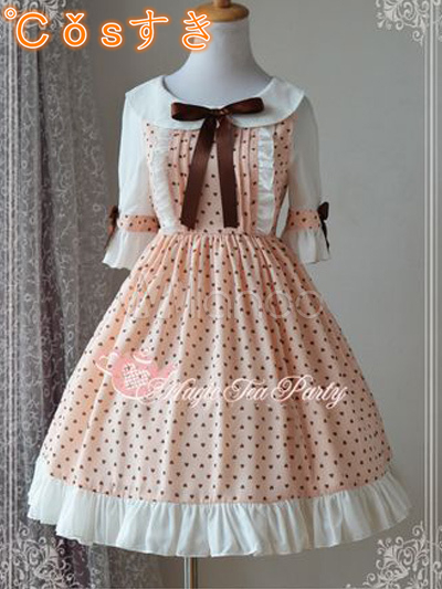 Free shipping! Newest! High - quality! Sweet Chiffon Half Sleeves Turndown Collar Print Lolita DressОдежда и ак�е��уары<br><br><br>Aliexpress