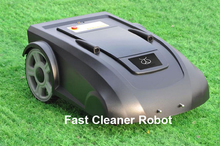 Greenish Black Color Robot Auto Gardden Mower L2700 Lead-acide Battery with remote controller, virtual wire, auto recharging(China (Mainland))