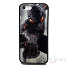 For iphone 4/4s 5/5s 5c SE 6/6s plus ipod touch 4/5/6 back skins mobile cellphone cases cover NEW AMAZING SPIDERMAN BLACK
