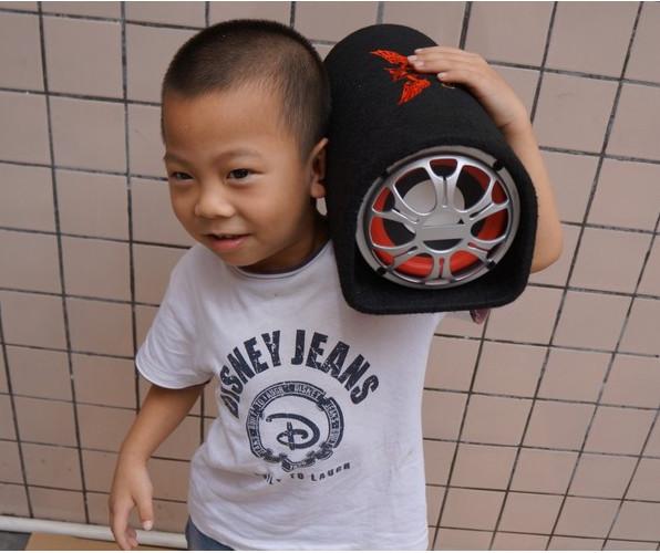 Mini car audio system subwoofer ativo alto falante de som automotive 5 inch 12V24V220V(China (Mainland))