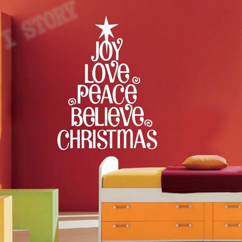 Christmas Tree Words Joy Love Christmas Wall Saying