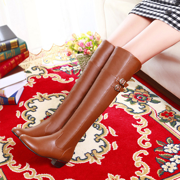 2014 autumn winter sexy women boots high boots knee boots boots female high-heeled shoes waterproof table Knight  XY013