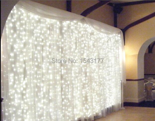 wedding Christmas KTV LED curtain lamp 3m * 3 m 300LED waterproof controller(China (Mainland))