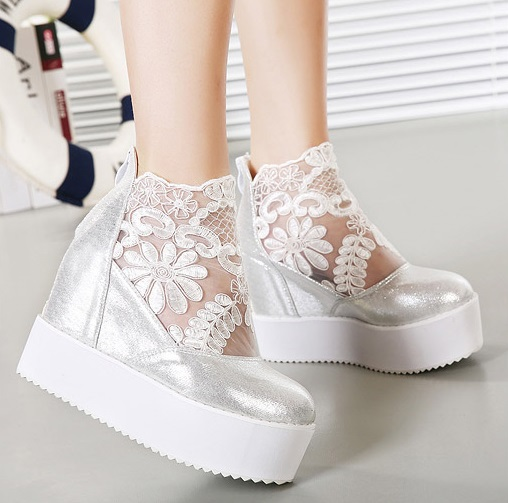 White Lace Wedding Wedges | www.imgkid.com - The Image Kid ...