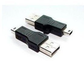 Free Shipping USB A to Mini B 5-Pin Data Cable Adapter Male/M MP3 DC