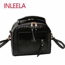 INLEELA New Arrival Knitting Women Handbag Fashion Weave Shoulder Bags Small Casual Cross Body Bag Retro Totes(China (Mainland))