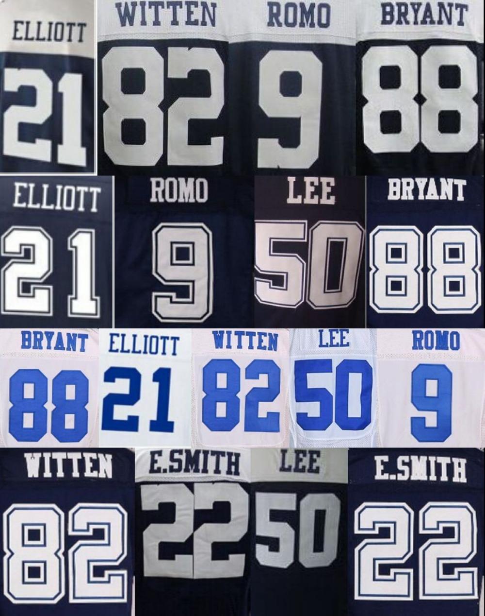 2016 New Draft #21 Ezekiel Elliott jersey 88 Dez Bryant Jersey Tony Romo 50 Sean Lee 82 Jason Witten 22 Emmitt Smith size M-3XL(China (Mainland))