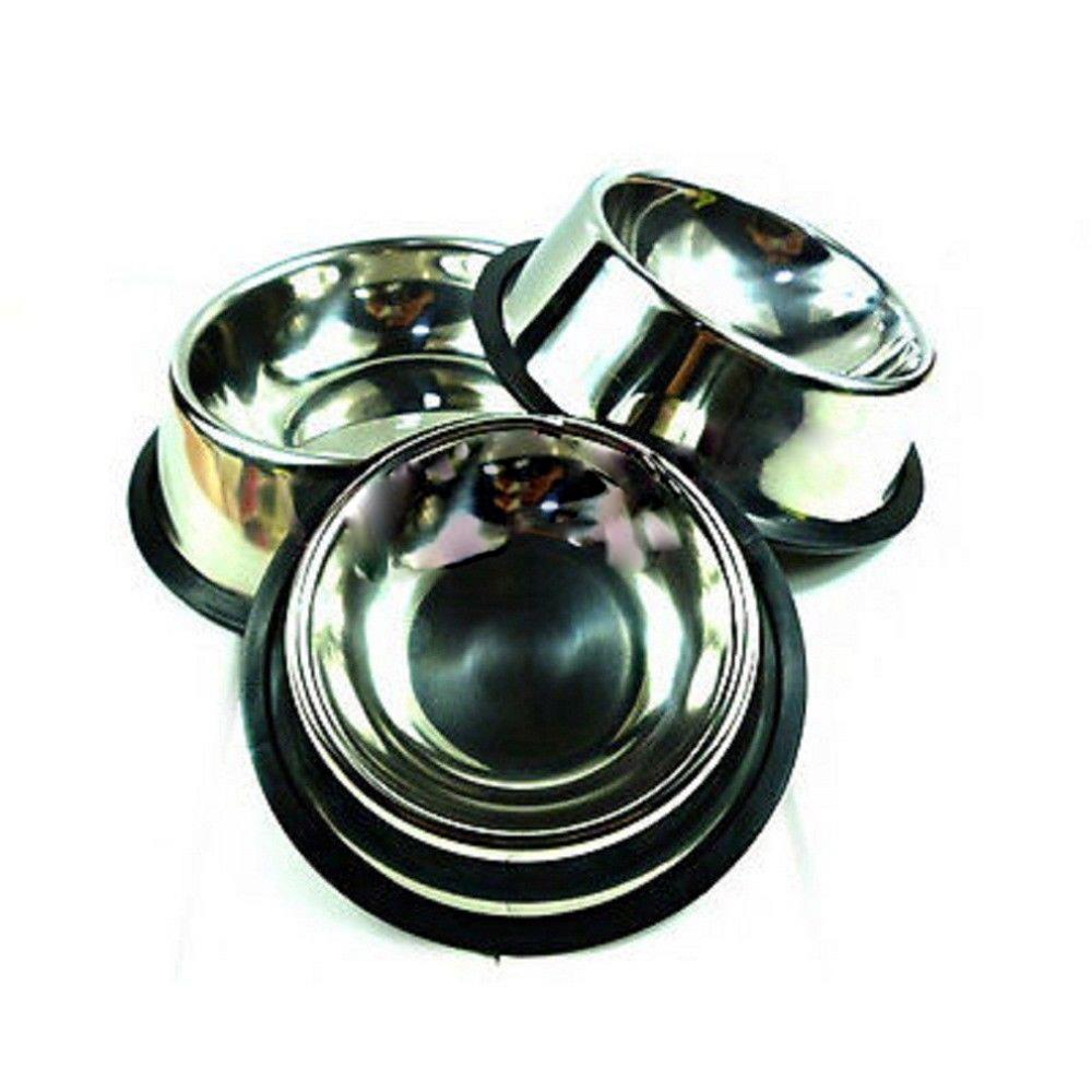 1 x Stainless Steel Standard Pet Puppy Cat Dog Food or Drink Water Bowl Dish Hot Worldwide(China (Mainland))