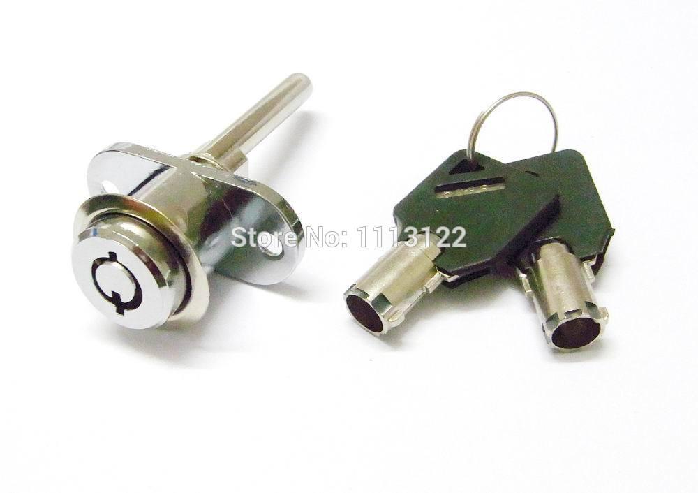 Desk Drawer Tubular Key Furniture Lock Plunger Drawer Lock with Tubular Keys 7 Pins Furniture Drawer Lock 5 PCS(China (Mainland))