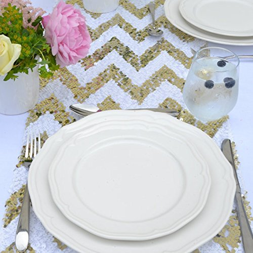Sparkly Gold Chevron Sequin Table Runner (12''*72'')(China (Mainland))