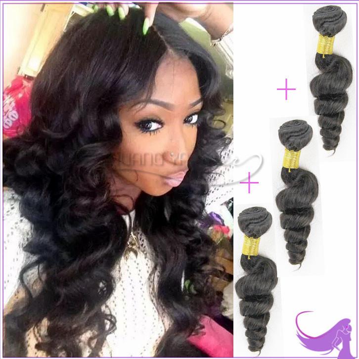 Peruvian Loose Wave 7a Unprocessed Virgin Hair 3Pcs Lot Rosa Peruvian Virgin Hair Loose Wave Hair Weaving Puruvian Hair Bundles(China (Mainland))