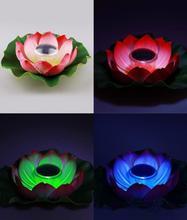 solar Lotus Lamp Water Floating light Rotating Pond Pool Light Garden Pool Nightlight outdoor garden lamp