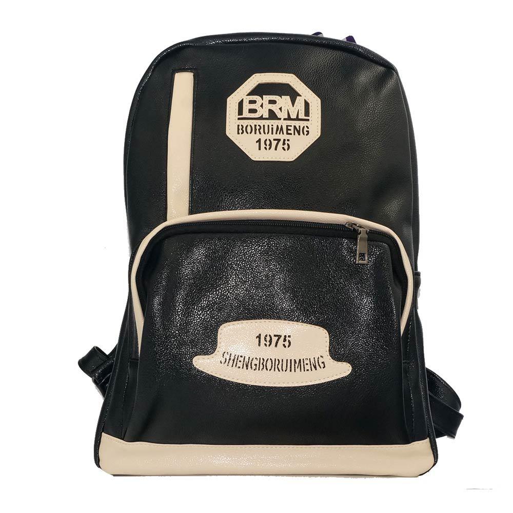 2014 Cute School Bags Women Back Pack PU Black Leather Backpacks for Teenage Girls(China (Mainland))