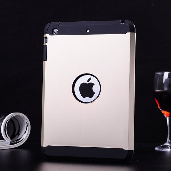 Hot With Logo Fashion Tough Dual Layer Armor Luxury Back Case for Apple iPad mini 1