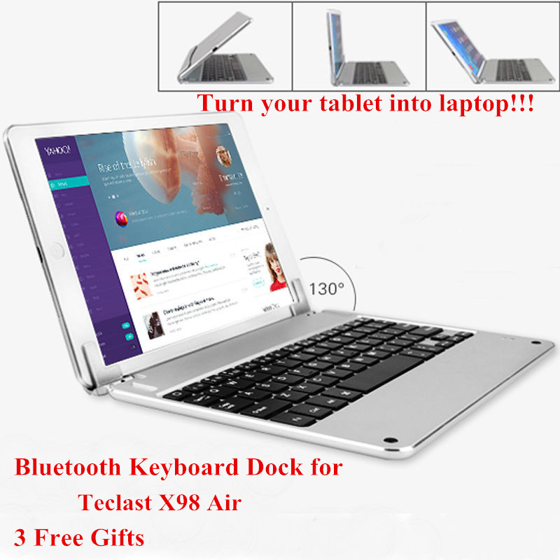 Russian/Spanish/Hebrew Keyboard for Teclast X98 Air 9.7 inch Tablet Wireless Bluetooth Keyboard Dock 3 Free Gifts(China (Mainland))