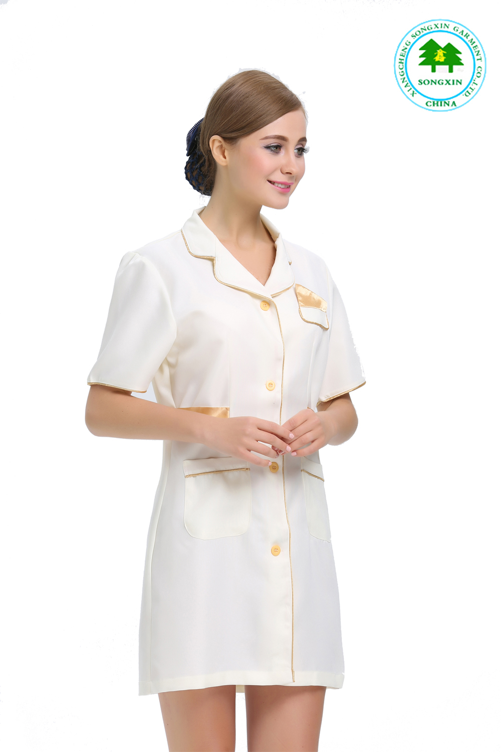 Beauty salon uniform promotion achetez des beauty salon for Spa uniform indonesia
