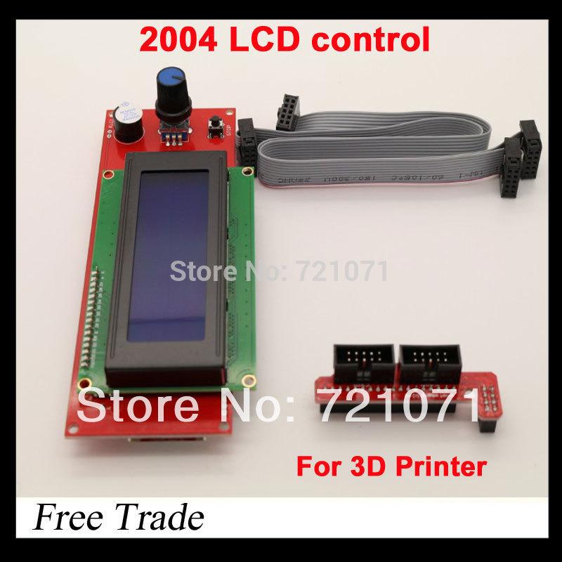 Гаджет  Free shipping !! 3D printer reprap smart controller Reprap Ramps 1.4 2004 LCD control None Электронные компоненты и материалы