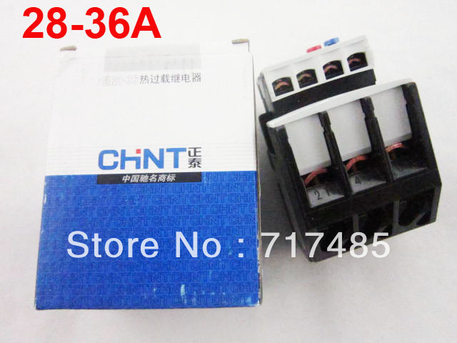 NR2-36 3 Pole Motor Protection Thermal Overload Relay 28-36A<br><br>Aliexpress