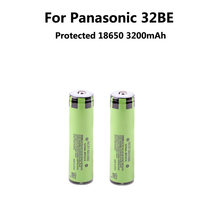 2PCS Original protected 3.7V 18650 3200mAh  for Panasoni c  batteries rechargeable Battery NCR18650BE Industrial use