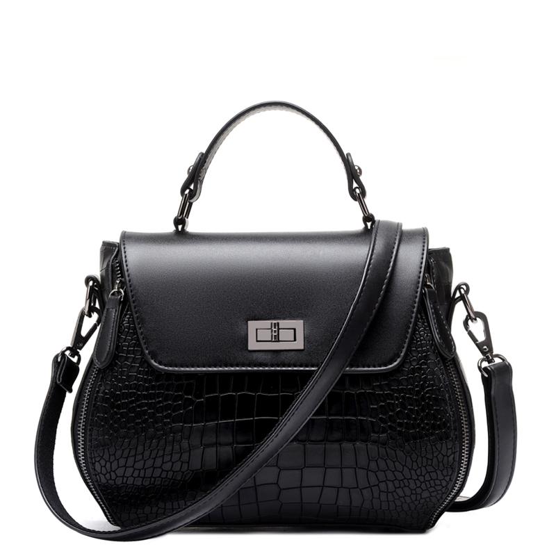 Women Casual Fashion Luxury Handbag Crocodile Grain Professional Aslant Messenger Crossbody Bag Large Single Shoulder Bag(China (Mainland))