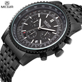 MEGIR Chronograph 24 Hours Luxury Brand Watch Full Steel Analog Display Quartz Men Business Waterproof Watches