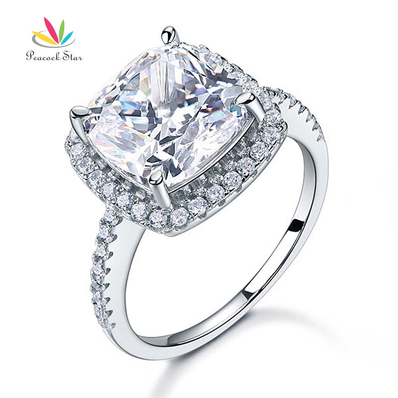 5 Carat Cushion Cut Created Diamond Wedding AnniversaryEngagement Ring Solid