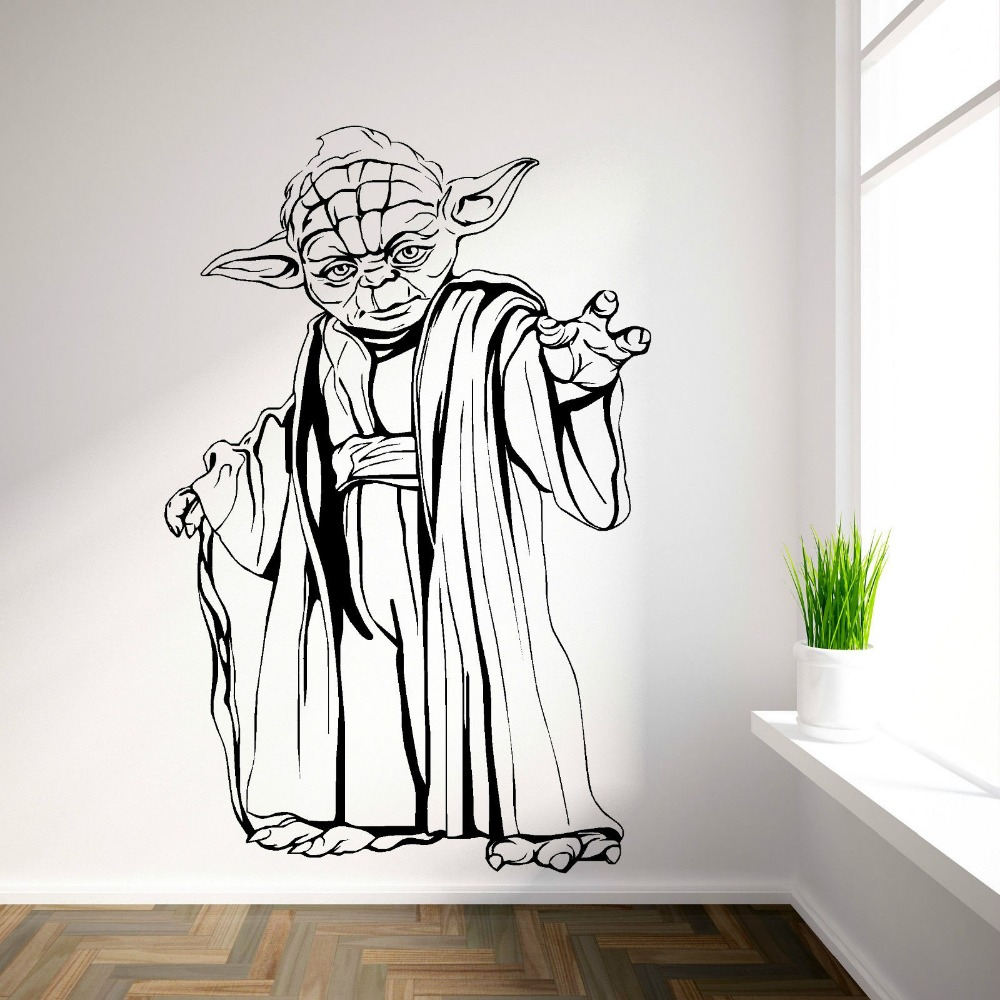 Wall Art Murals Vinyl Decals Stickers : Yoda star wars vinyl wall art room sticker decal movie