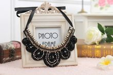 With Chain-Plastic-ABS Plating Beads,Length:Free adjustment  2015 False Collar Necklaces Chokers Necklaces Black Crystal(China (Mainland))