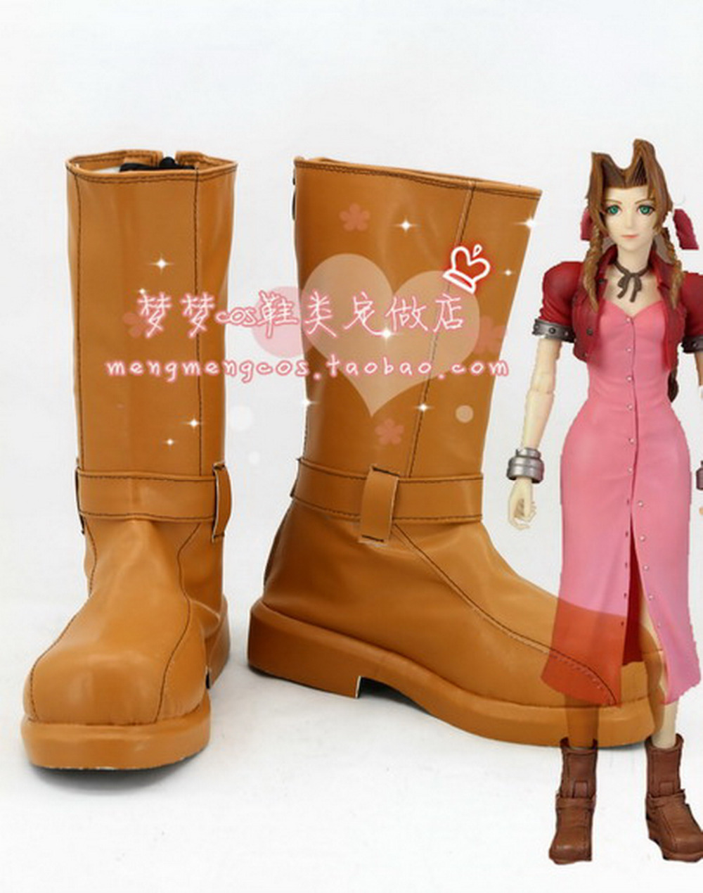Фотография Japan anime Final Fantasy VII Cosplay Shoes Aerith  Anime Party Boots Tailor-Made