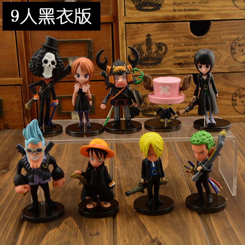 Anime One Piece Mini Action Figures The Straw Hats wcf Luffy/Roronoa Zoro/Sanji/Chopper Figure Toys 6pcs/set Free Shipping(China (Mainland))