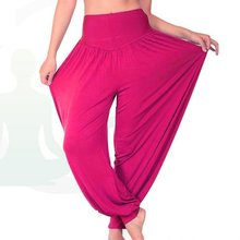 1pc/lot Hot Sale Women Long Pants Harem Youga Modal Dancing Trouses Wide Belly Dance Comfy Boho Pants 7colors DP651417(China (Mainland))