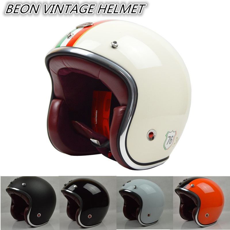 motorcycle helmet china 2015 BEON brand capacete motorcycle male female vintage motorcycle 3/4 helmets ECE approved cross jet(China (Mainland))