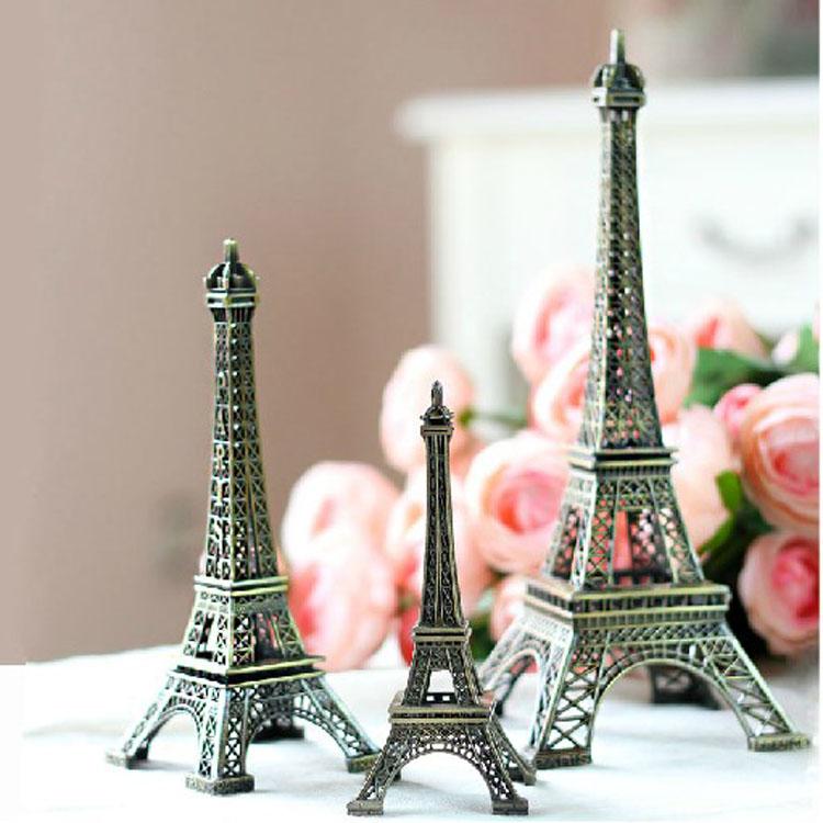 Free Shipping 25cm Paris Eiffel Tower Home Decoration For Wedding Steel Antique Lmitation