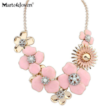 new style collar cute jewelry accessories Fashion rhinestone necklace colorful enamel big flower statement necklace for women(China (Mainland))
