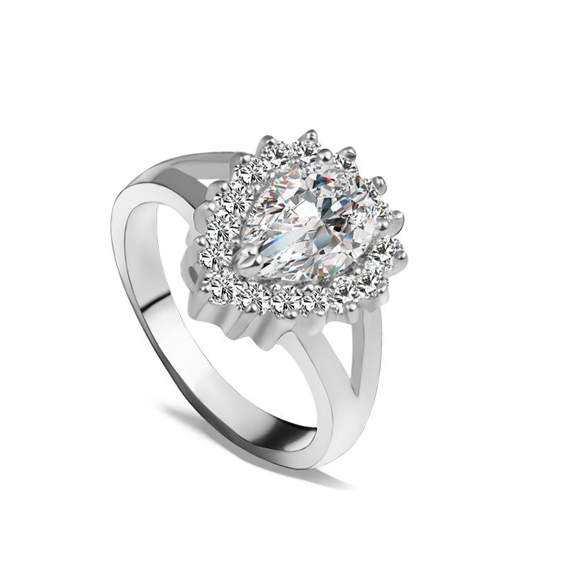 R095 rings for women wedding ring big crystal jewelry for Huge wedding rings for women