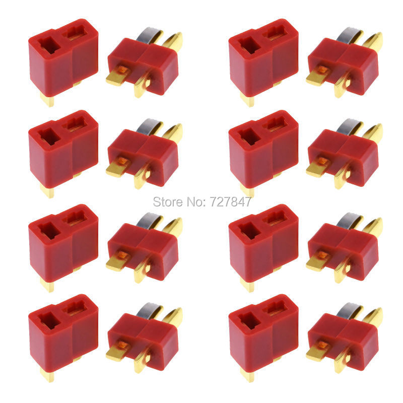10Pairs Dean Connector T plug For ESC Battery Free shipping(China (Mainland))